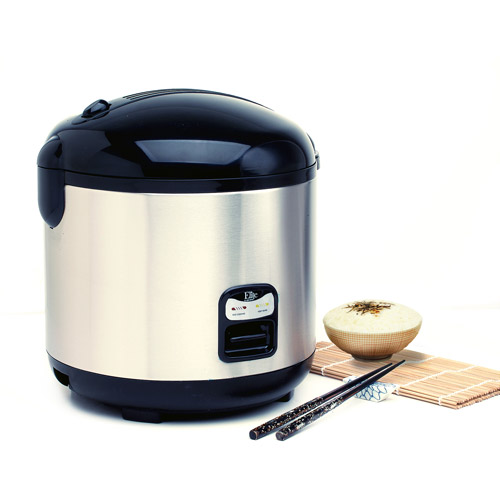 Maxi-Matic 10-Cup Rice Cooker, Stainless Steel