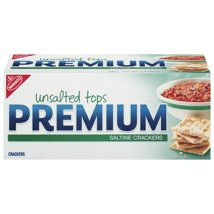 Crackers: Premium Unsalted Tops Saltine Crackers