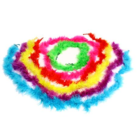 Dazzling Toys Mini Maraboou Feather Boas Halloween Costume Dress up Party 1 (D122) - Halloween Party Items