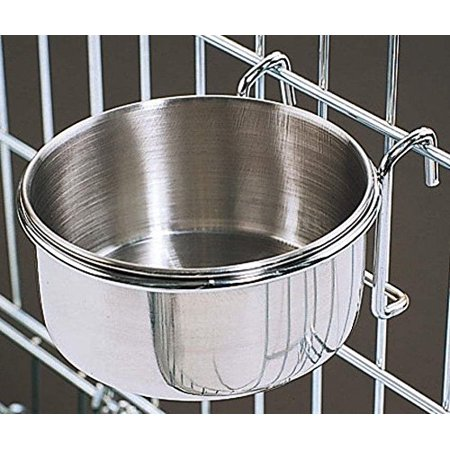 Bonka 800116 Stainless Steel 30 oz Cage Coop Hook Cup - Chicken Hood