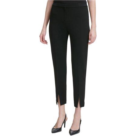Calvin Klein Womens Split-Hem Casual Trouser Pants