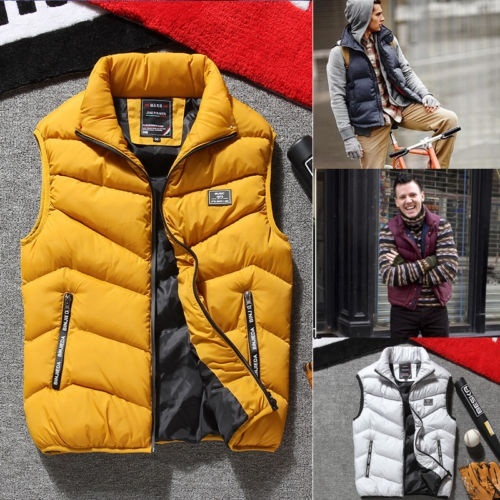 Men´s Heated Jacket Sleeveless Vest Motorcycle Warm Winter Heating Zipper Coat