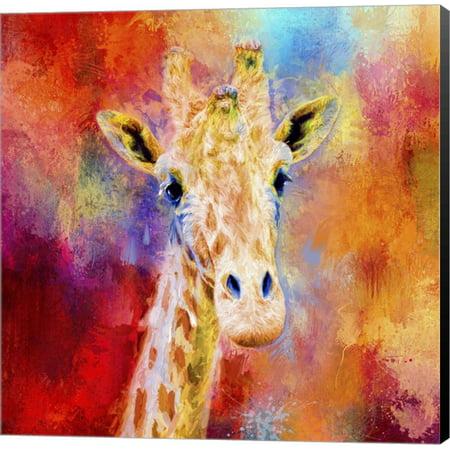 Great Art Now Jazzy Giraffe by Jai Johnson Canvas Wall (Johnson Art Lighting)