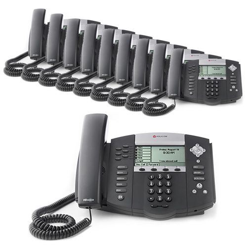 Polycom 2200-12560-025 (10 Pack) SoundPoint IP 560 4-Line IP Phone (POE) by Polycom