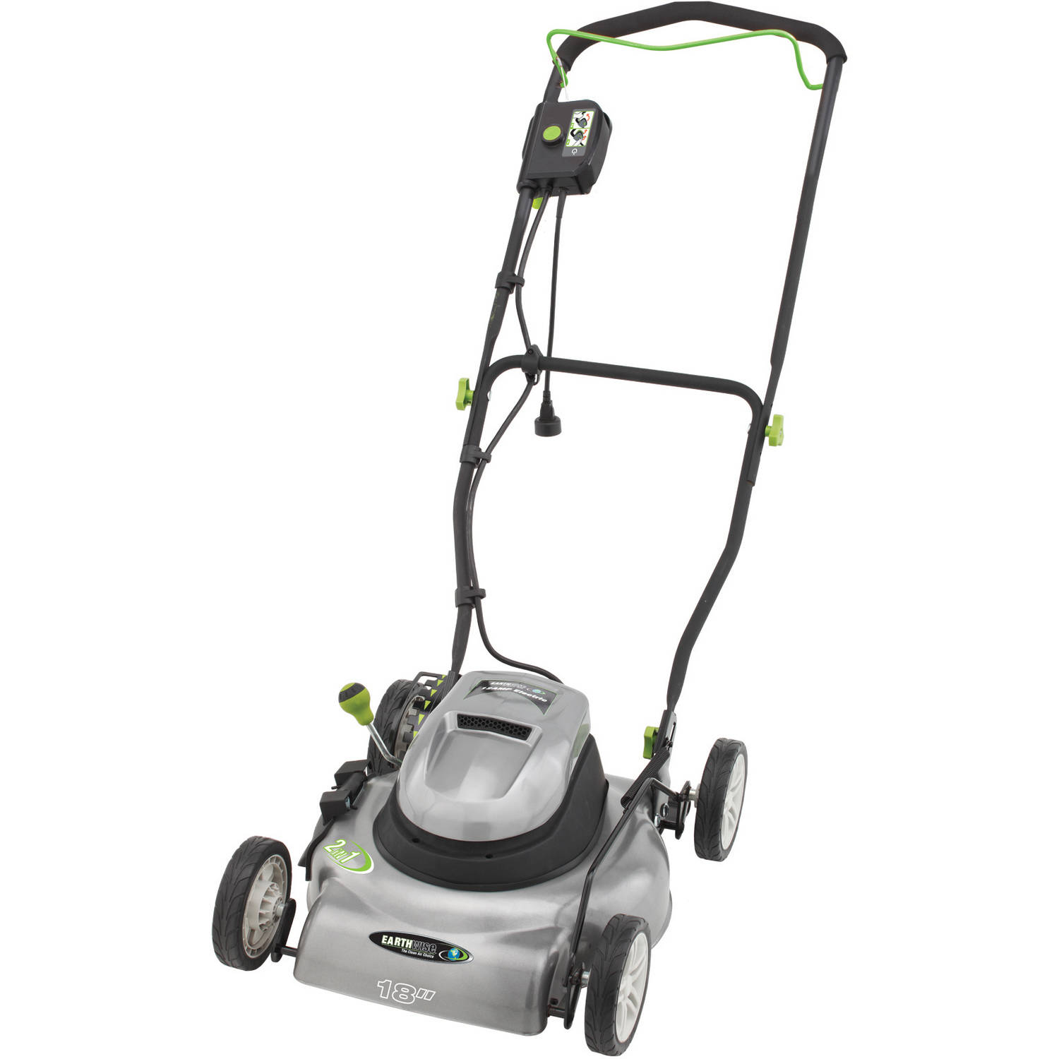 Earthwise 50518 12 Amp - 120V 18-Inch Corded Electric Lawn Mower 2-in-1 Discharge and Mulch