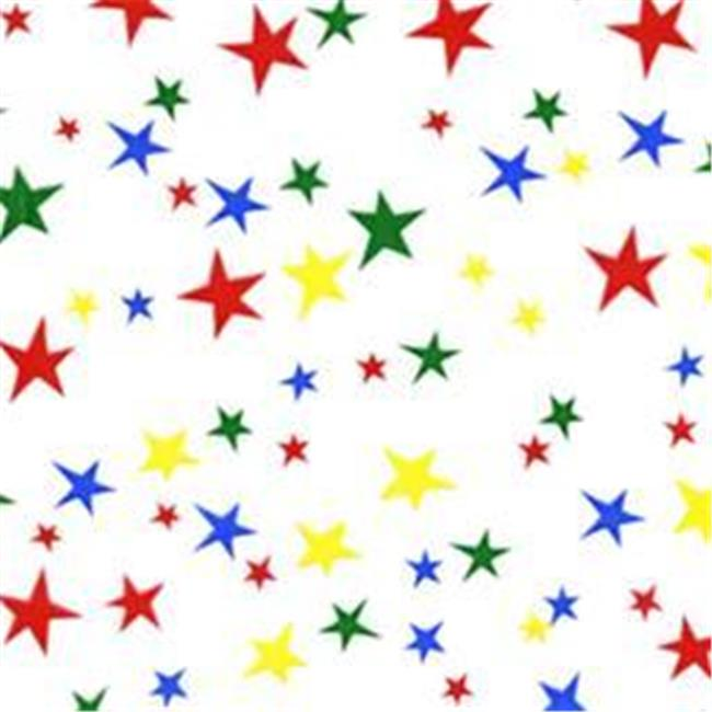 Cindus 78709 30 in. x 5 ft. Cellophane Wrap Roll - Stars