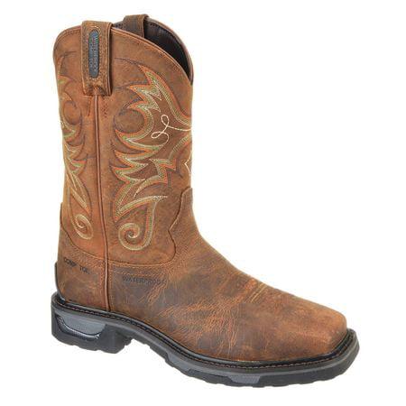 Work Boots, 8, EE, Brown, Composite, Mens, PR TONY LAMA BOOT CO. Tony Lama Stars