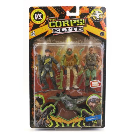 The Corps Elite Triple Threat Action Figures(Item May - Toy Army Men