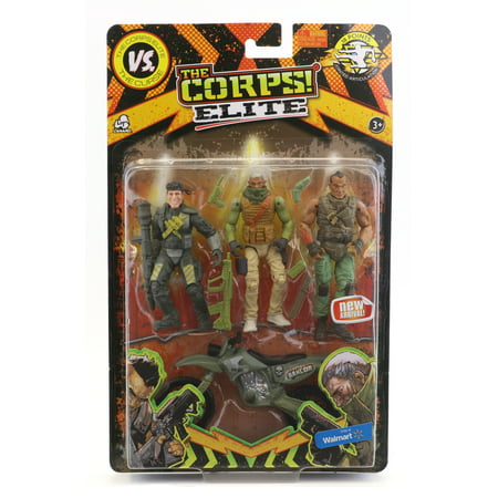 The Corps Elite Triple Threat Action Figures(Item May vary)