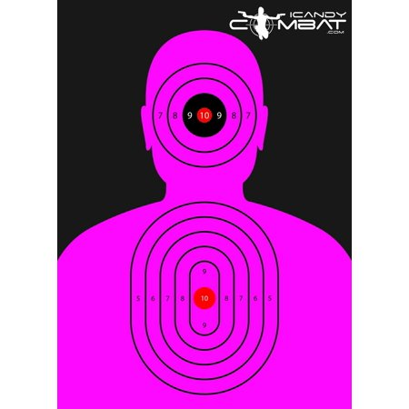 Bright Pink Silhouette Paper Target - Reactive Targets