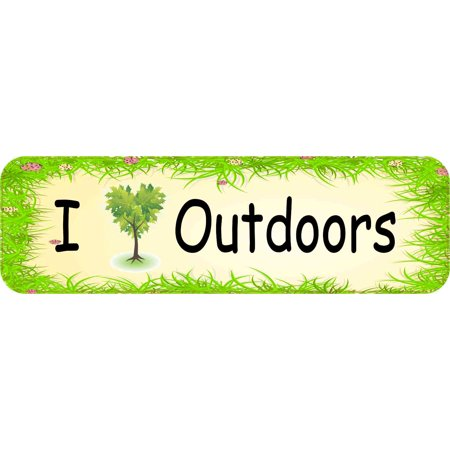 Magnetic Outdoor Car - 10X3 I Love Outdoors Magnet Magnetic Vehicle Bumper Magnets Car Truck Door Decal