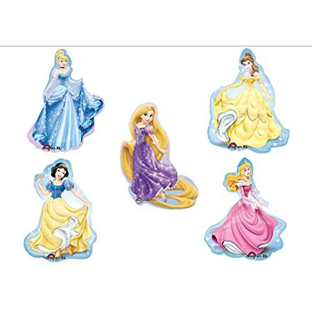 Disney Princess BIRTHDAY PARTY Balloons Decorations Supplies SET OF 5!! (Disney Balloons)