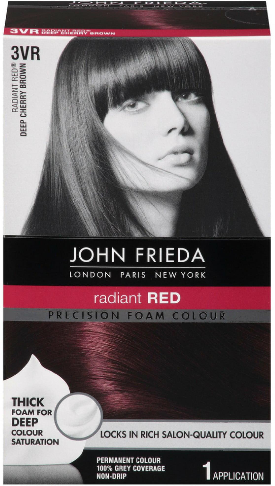 John Frieda Precision Foam Colour Radiant Red Deep Cherry Brown 3vr 1 Each Walmart Com Walmart Com