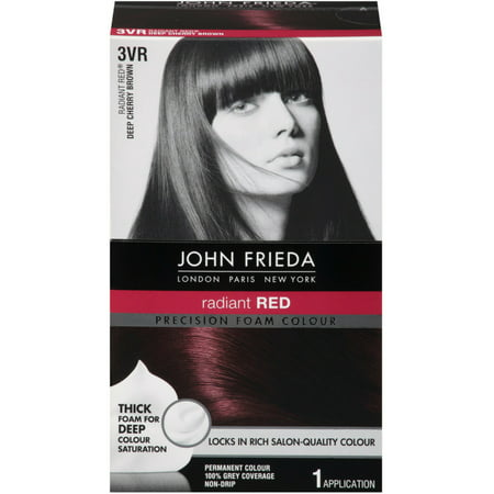John Frieda Precision Foam Colour Radiant Red (Deep Cherry Brown) 3VR 1 Each