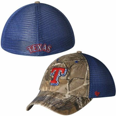 Texas Rangers Single (Texas Rangers '47 Brand Huntsman Flex Hat - Royal Blue/Camouflage )