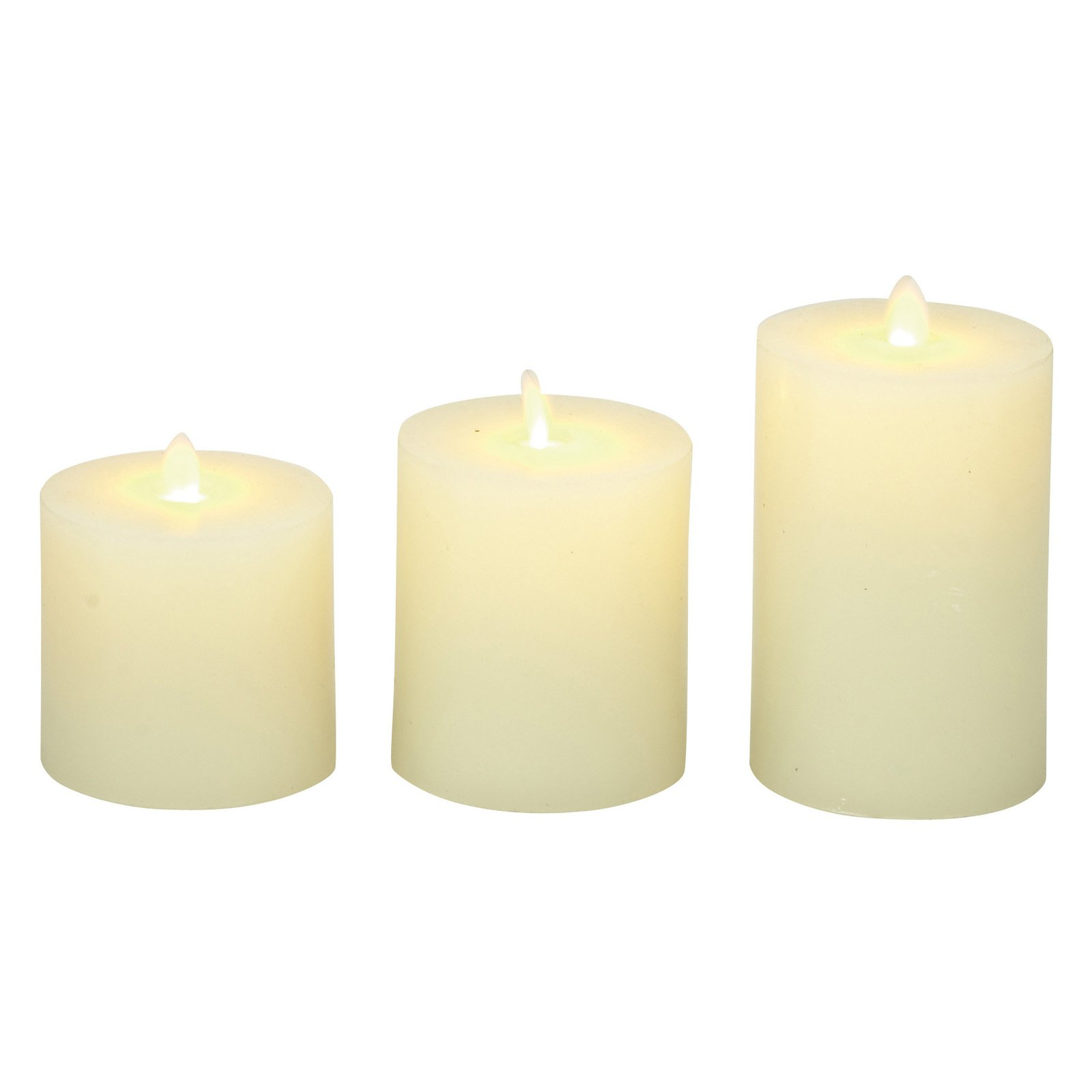 Flameless LED Candles, Remote Controlled 3-Piece Candle Set by ...