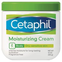 Cetaphil Moisturizing Cream, Hydrating Moisturizer For Dry To Very Dry, Sensitive Skin, Fragrance Free, Non-Greasy, Dermatologist Recommended, 16 oz
