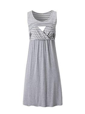 5fc92041dd713 Product Image Jchiup Women's Maternity Sleeveless Scoop Neck Nursing  Breastfeeding Tank Dress