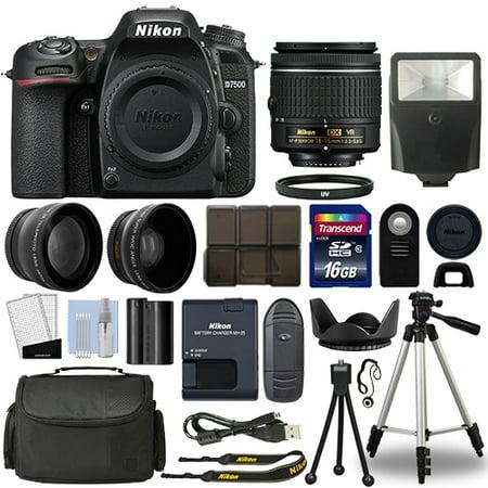 Nikon D7500 Digital SLR Camera + 18-55mm VR 3 Lens Kit + 16GB Top Value Bundle
