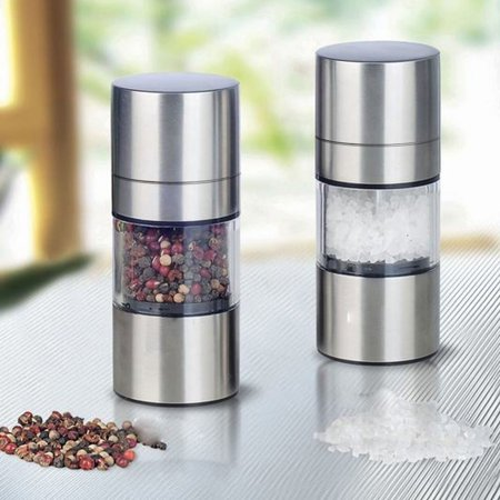 High Quality Stainless Steel Manual Salt Pepper Mill Grinder Portable Kitchen Mill Muller Tool 58XP003157
