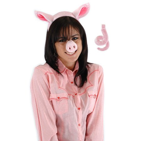 Pig Adult Halloween Accessory Kit