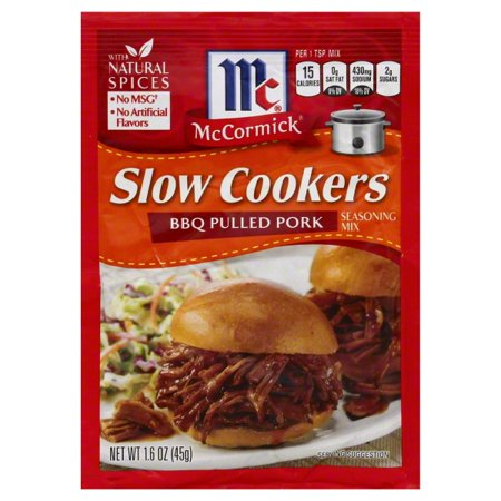 (McCormick® Slow Cookers BBQ Pulled Pork Seasoning Mix, 1.6 OZ)
