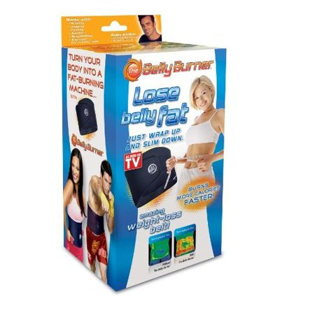 Belly Burner Weight Loss Belt, Black, One Size Fits All Up To