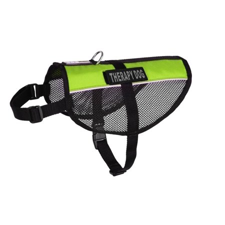 MaxAire Multi-Purpose Mesh Vest for Dogs and 2 Removable Therapy Dog Patches, Large, Green, One of the lightest multi-purpose animal vests on the market;.., By Dogline from USA Therapy Dog Vest