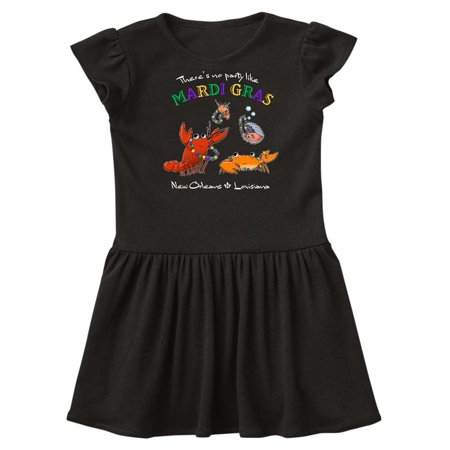 There's No Party Like Mardi Gras With Partying Seafood Toddler - Marti Gras Dresses