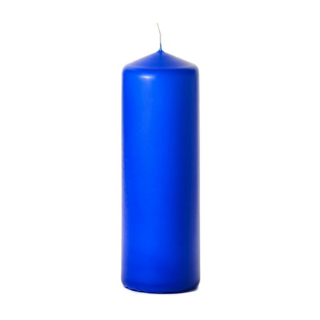 1 Pc 3x9 Royal Blue Pillar Candles Unscented 3 in. diameterx9 in. tall