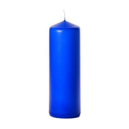 1 Pc 3x9 Royal Blue Pillar Candles Unscented 3 in. diameterx9 in. tall 3x9 Inch Glass Pillar Candle