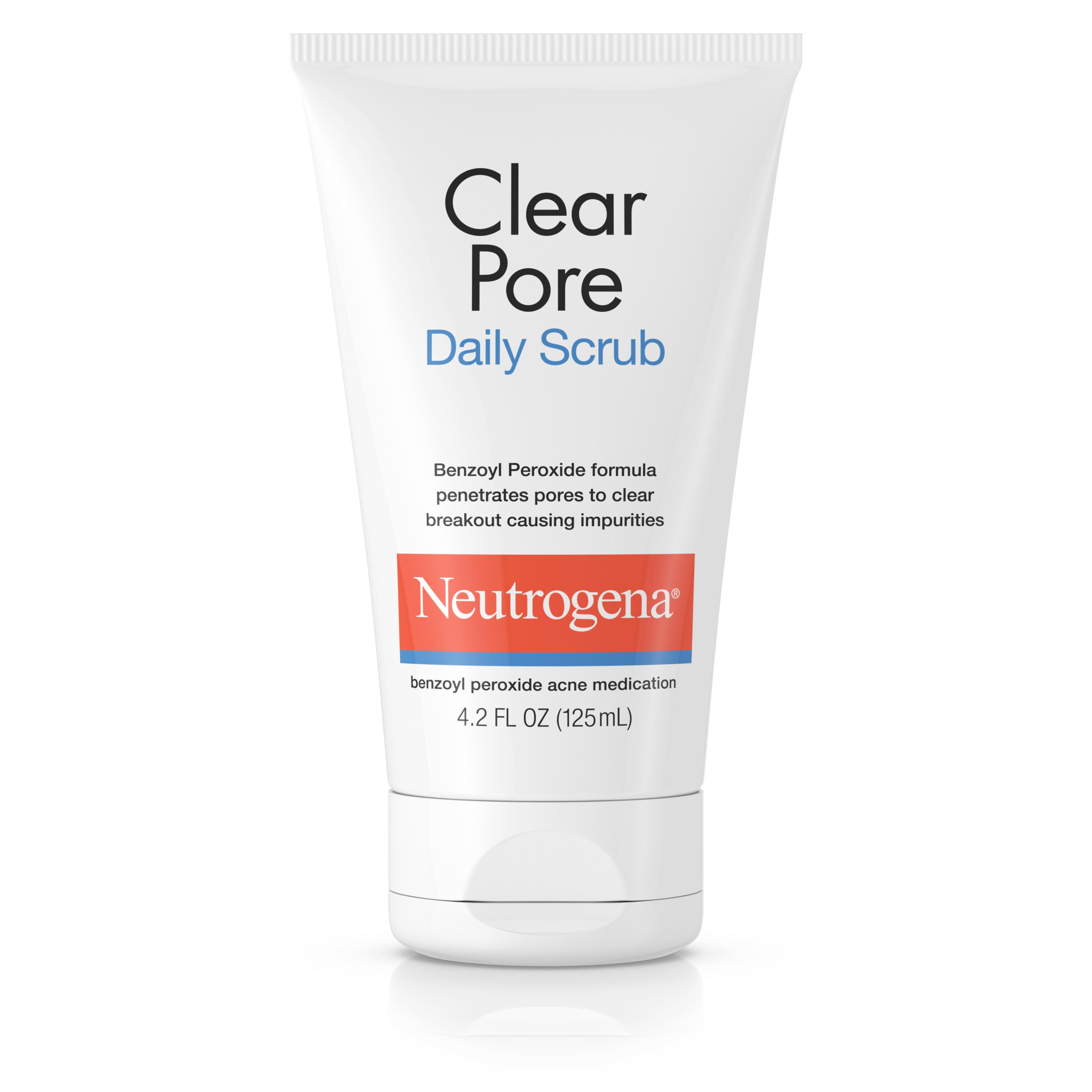 Neutrogena Clear Pore Daily Scrub With Benzoyl Peroxide, 4.2 Fl. Oz. - Walmart.com