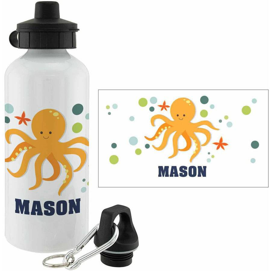 Personalized Octopus Water Bottle