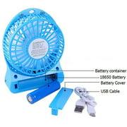 LED Light Fan Electric Air Cooler Mini Desk USB Fan Fashion Hobbies Desk Fan 3 Speed Mode Flexible Ventilator Bed Office Portable Rotating Mute Stroller Car Laptop Table Home