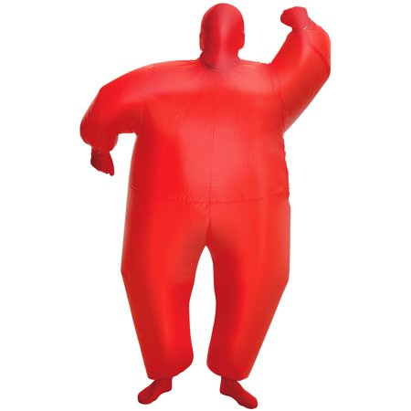 MorphCostumes Red MegaMorph Kids Inflatable Blow Up Costume - One (70's Blow Up Halloween Costumes)
