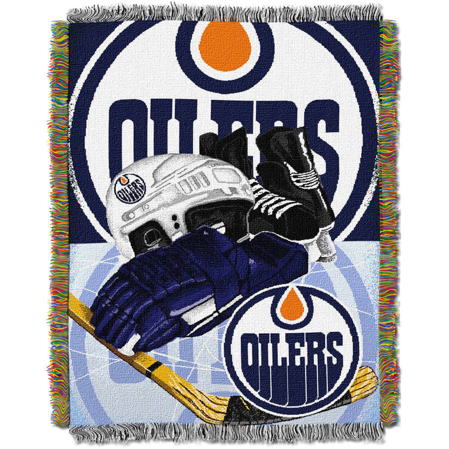 """NHL 48"""" x 60"""" Home Ice Advantage Series Tapestry Throw, Oilers"""