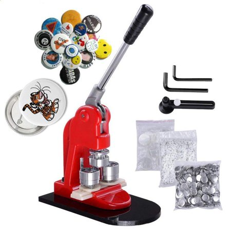 Button Maker,EECOO Button Badge Maker Punch Press Machine with 1000 Pcs Circle Button Parts and Circle Cutter