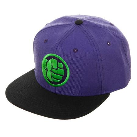 4fceaf660 Mens Adjustable Hulk Snapback Black Snapback Avengers Hat