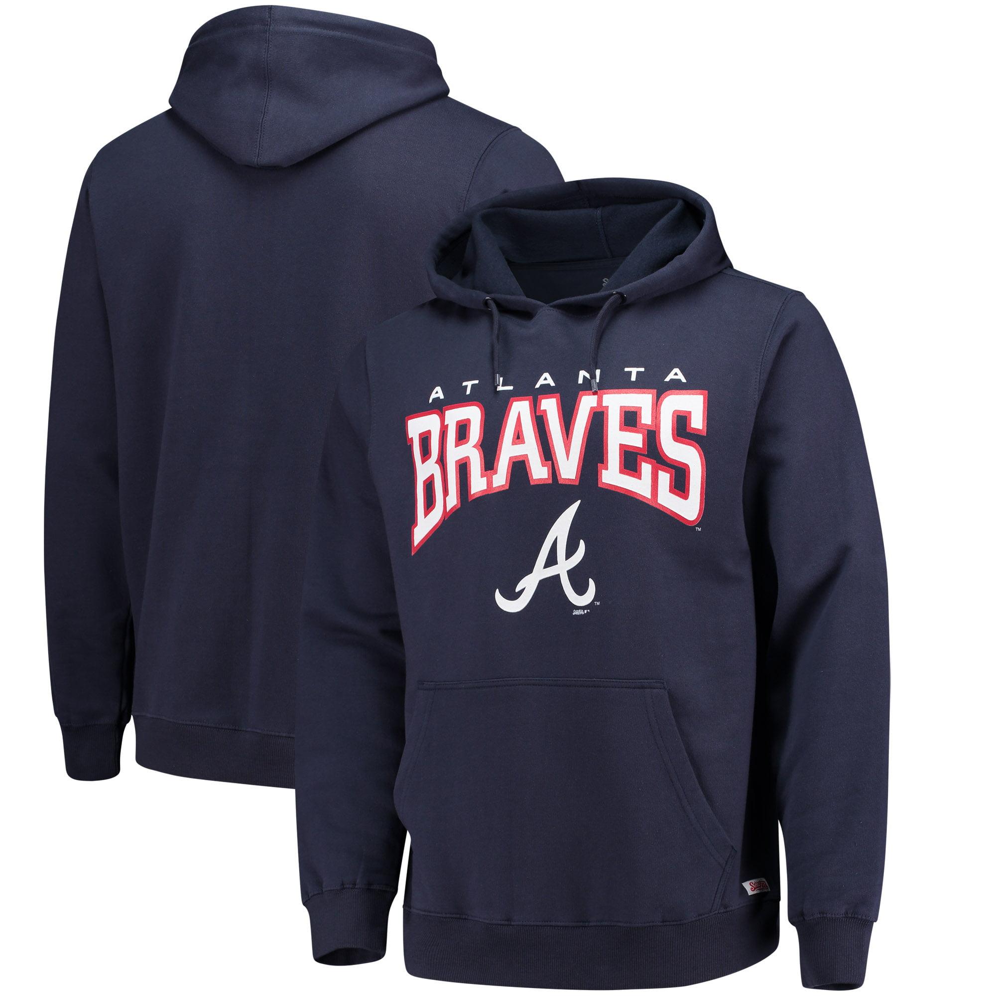 Atlanta Braves Stitches Team Pullover Hoodie - Navy