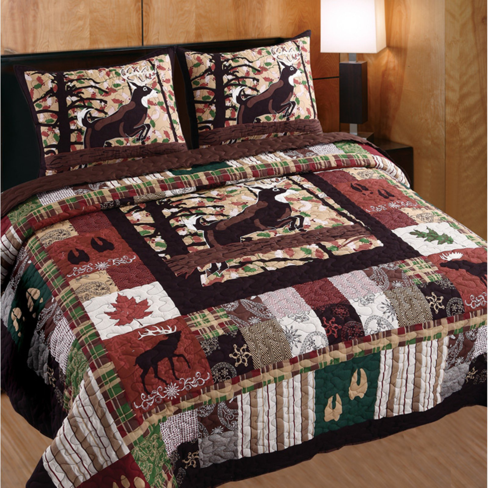 Greenland Home Fashions Whitetail Lodge Quilt Set