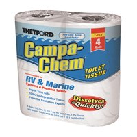 Campa Chem Toilet Tissue, 4-Pack