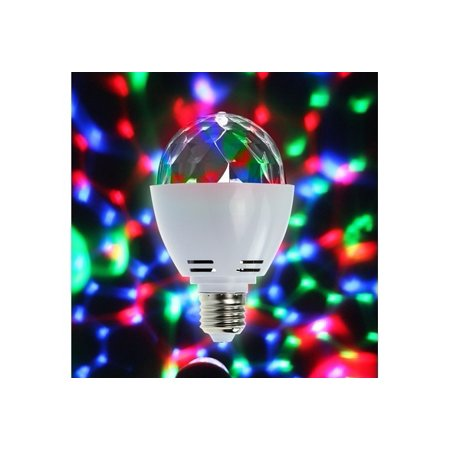 EinCar LED Full Color Rotating Strobe Crystal stage light for Disco party club bar DJ ball Bulb Multi changing Color 2017 Version - Led New Years 2017