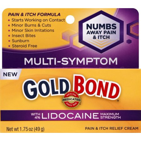 Gold Bond Pain and Itch Relief Cream with Lidocaine