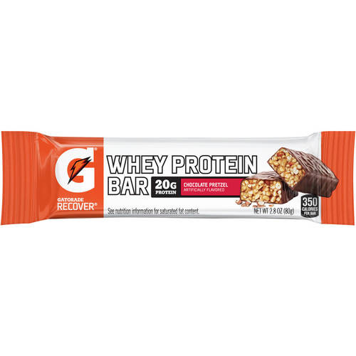 Gatorade Recover Bar, 20 Grams of Protein, Chocolate Pretzel, 2.8 Oz, 1 Ct