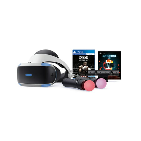 Sony PlayStation 4 VR CREED: Rise to Glory + Superhot VR Bundle, Black, 3003470