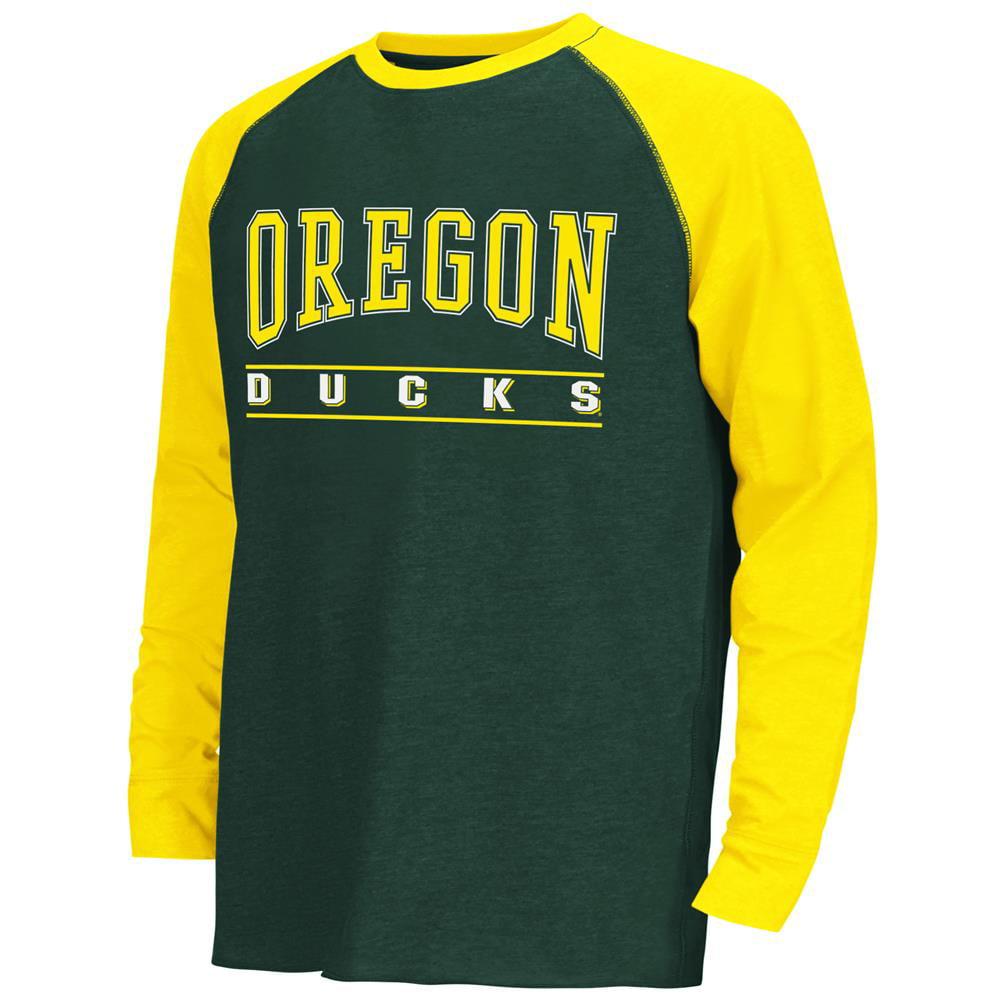 Youth Kryton Raglan University of Oregon Ducks Long Sleeve Tee