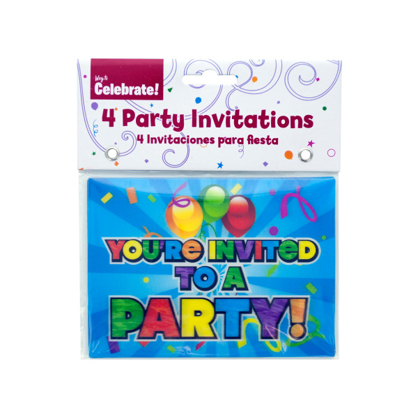 Holographic Party Invitations Case Pack 24