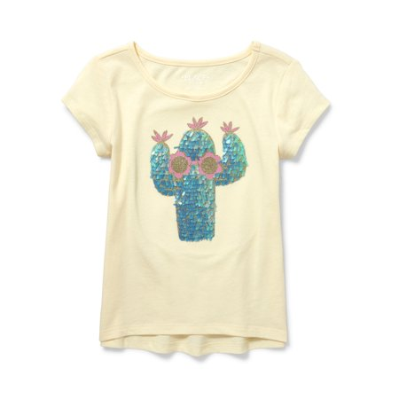 Cactus Graphic High-Low T-Shirt (Little Girls & Big (Best Place To Shop For Girl Clothes)