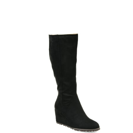 Brinley Co. Women's Ankle-strap Wedge Boot