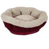 Aspen Pet Round Pet Cat Bed, Red